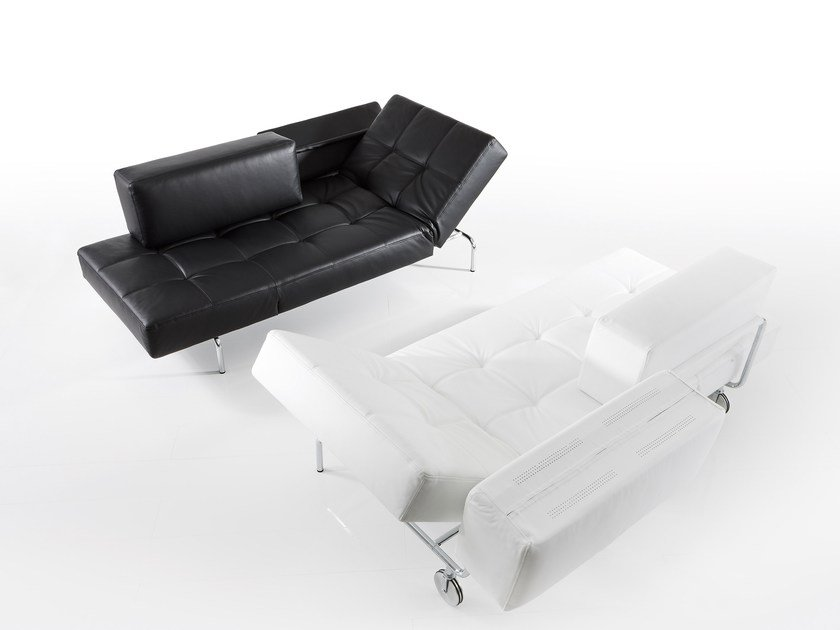 Tufted leather day bed JERRY | Leather day bed by brühl