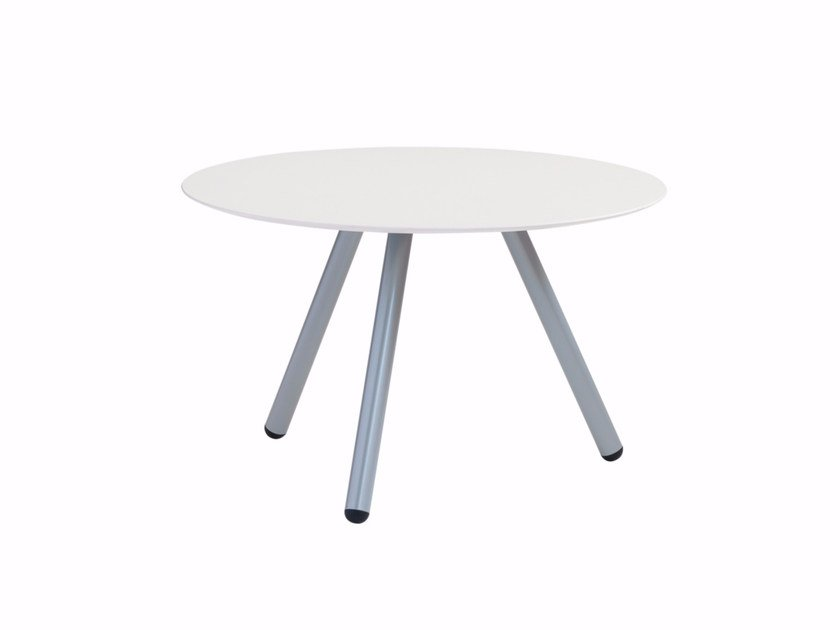 Round coffee table with steel legs Jet 521T by Metalmobil