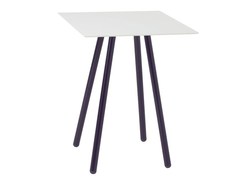 Square metal table JET 525Q by Metalmobil