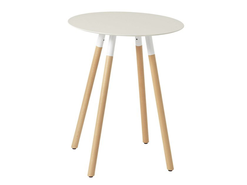 Round metal table JET 526Q by Metalmobil