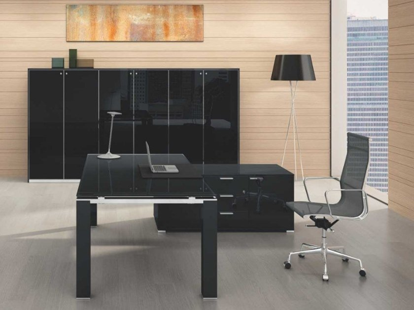 Acrylic office storage unit JET EVO | Lacquered office storage unit by Bralco