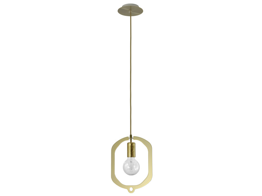 Metal pendant lamp JEWEL 35 GOLD by Hind Rabii
