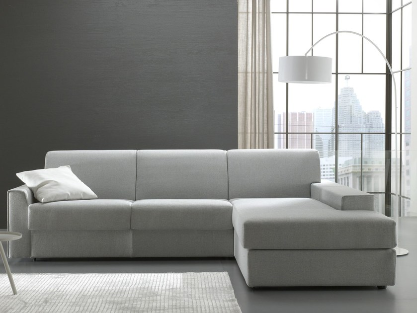 Fabric sofa bed with chaise longue DAY & NIGHT | Sofa with chaise longue by Felis