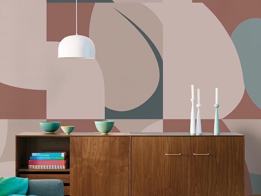 Carta da parati geometrica panoramica in fibra di vetro EQ Dekor JIGSAW by Inkiostro Bianco