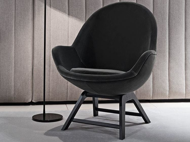 Easy chair with armrests JILL | Easy chair by Meridiani