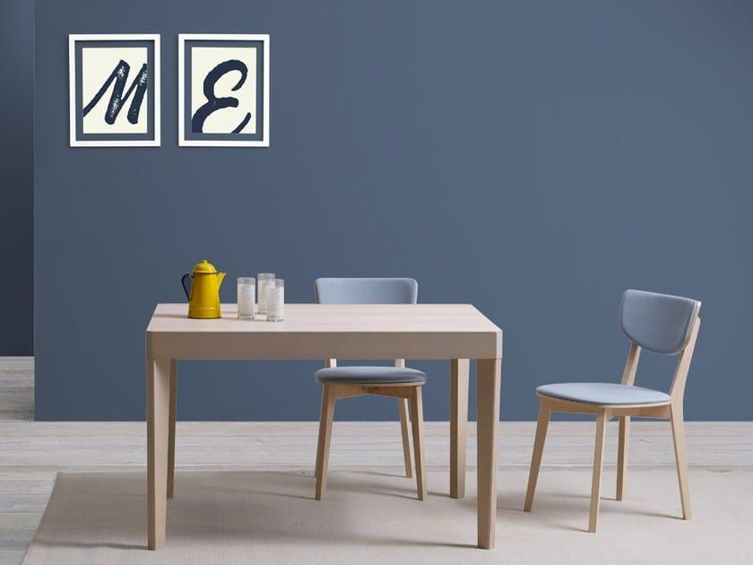 Extending rectangular wooden table JIMY by Natisa