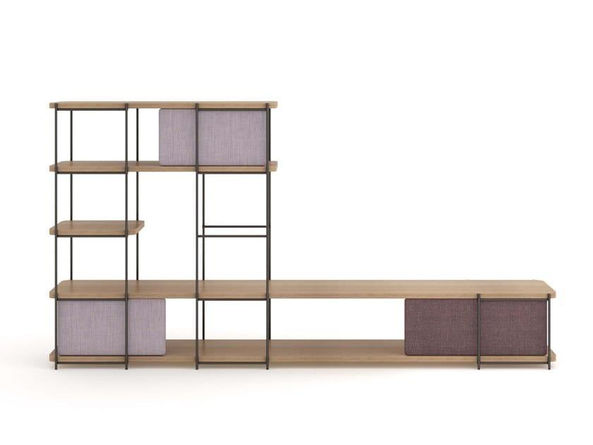 Oak wood modular living room furniture JULIA JM04 by Momocca