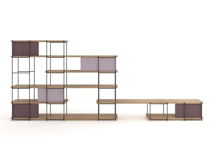 Natural wood modular storage system with sliding doors JULIA JM06 by Momocca