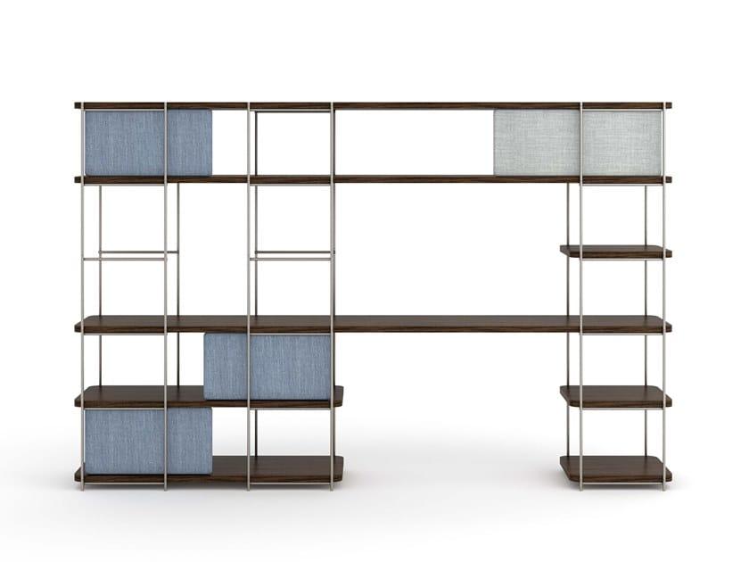 Natural wood desk and shelving system JULIA JO03 by Momocca