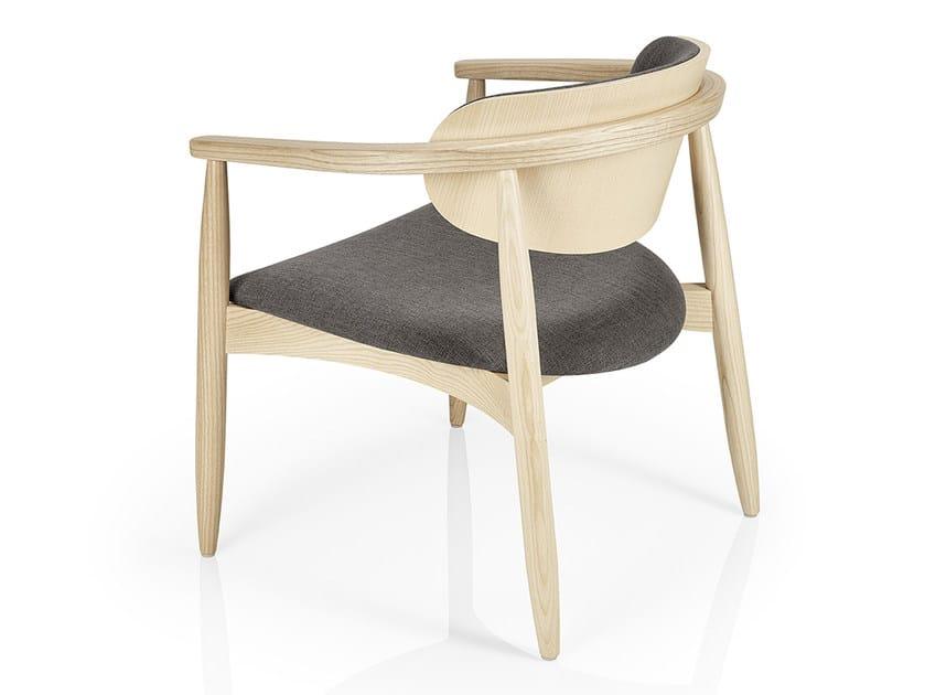 Sedia da ristorante in legno con braccioli JOANNA | Sedia con ...