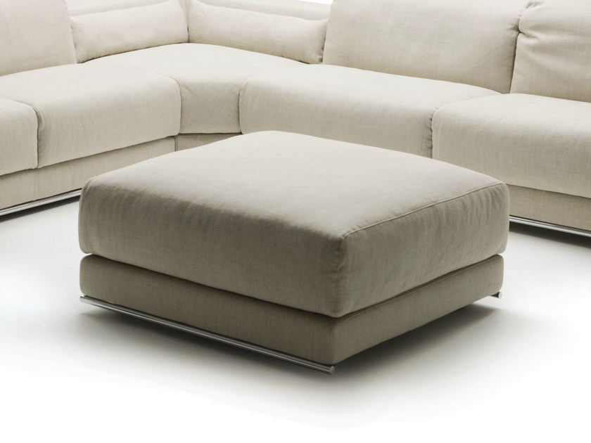Upholstered fabric pouf JOE | Pouf by Milano Bedding