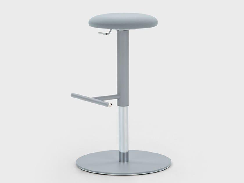 Height-adjustable fabric office stool JOE UP by Viganò