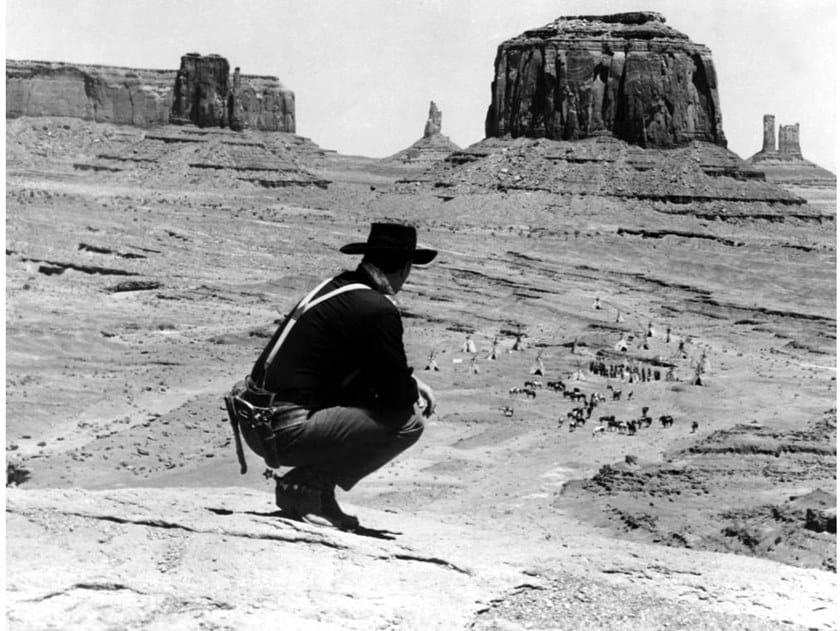 Stampa fotografica JOHN WAYNE NEL 1956 by Artphotolimited