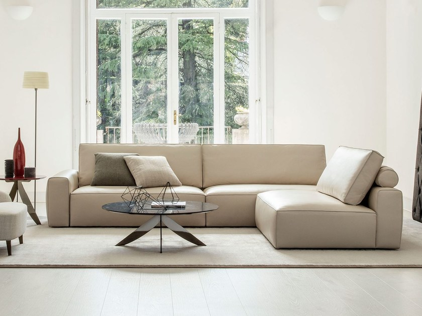 Sectional leather sofa JOHNNY | Sectional sofa by BertO