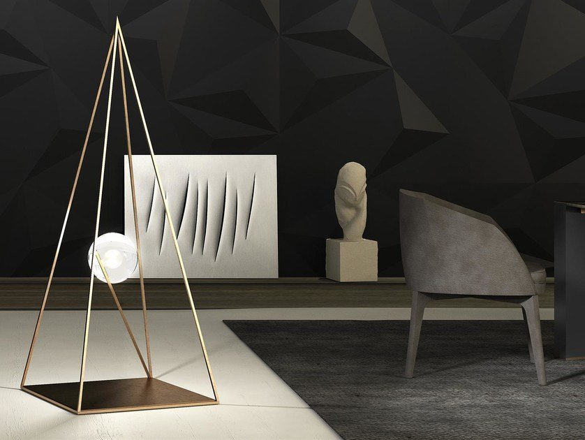 Metal floor lamp JOIN - INCASTRO PERFETTO | Floor lamp by Boffetto