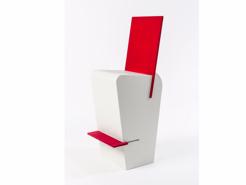 Poly Mass® chair with footrest JOINT | Chair by Be Different