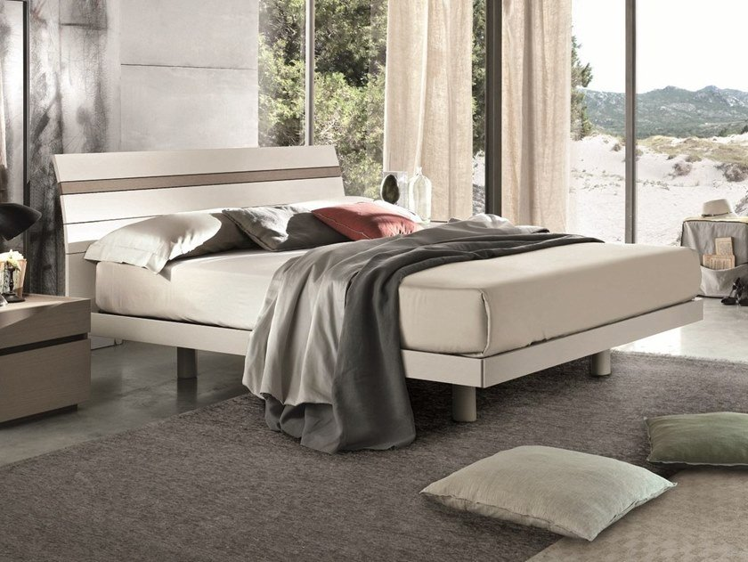 Lacquered wooden double bed JOKER | Lacquered bed by Gruppo Tomasella