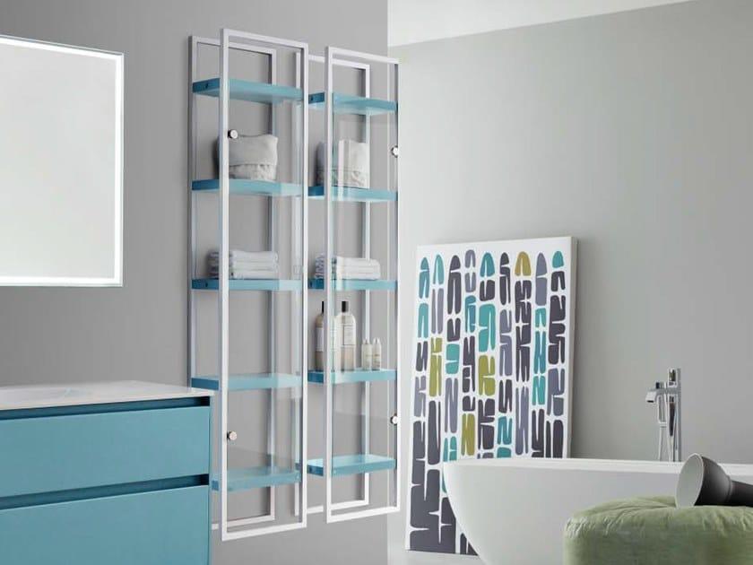 Tall suspended aluminium bathroom cabinet JOY 108 by Cerasa