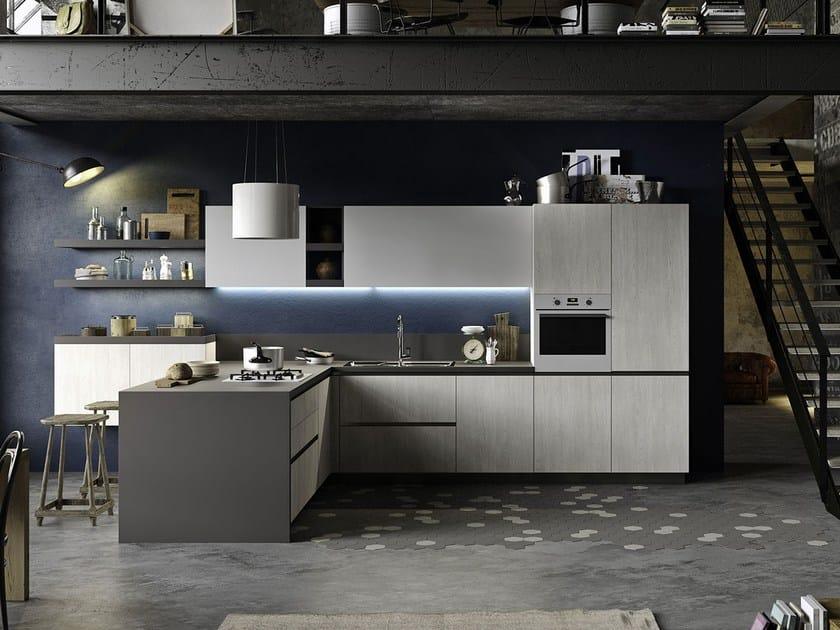 JOY | Küche mit integrierten Griffe Kollektion EVERYONE By Snaidero