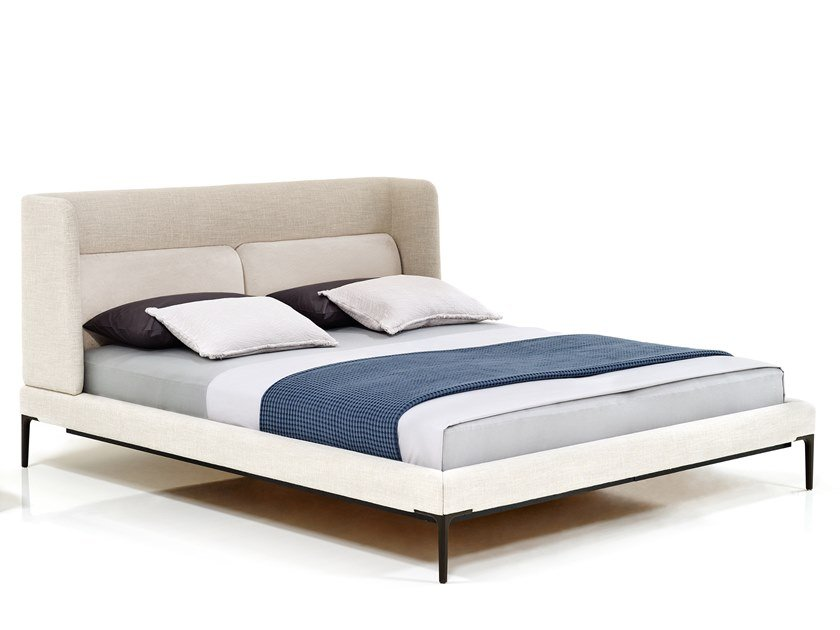 Double bed with high headboard JOYCE NICHE BED by Wittmann