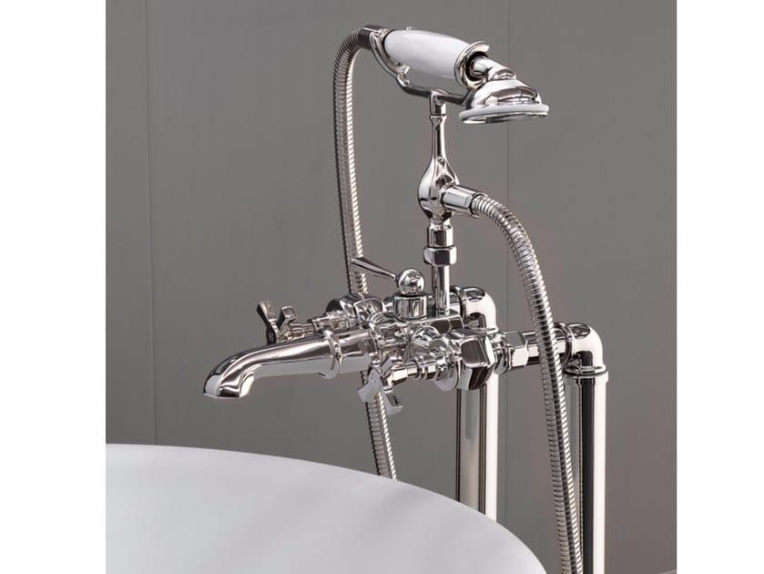 Floor standing bathtub tap with hand shower JUBILEE | Floor standing bathtub tap by Devon&Devon