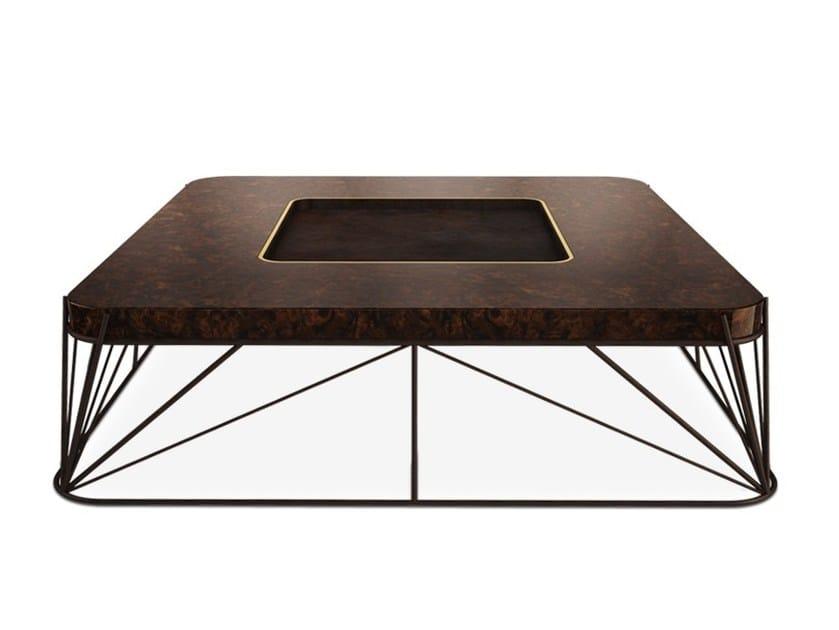 Square elm coffee table JUDD by Porustudio
