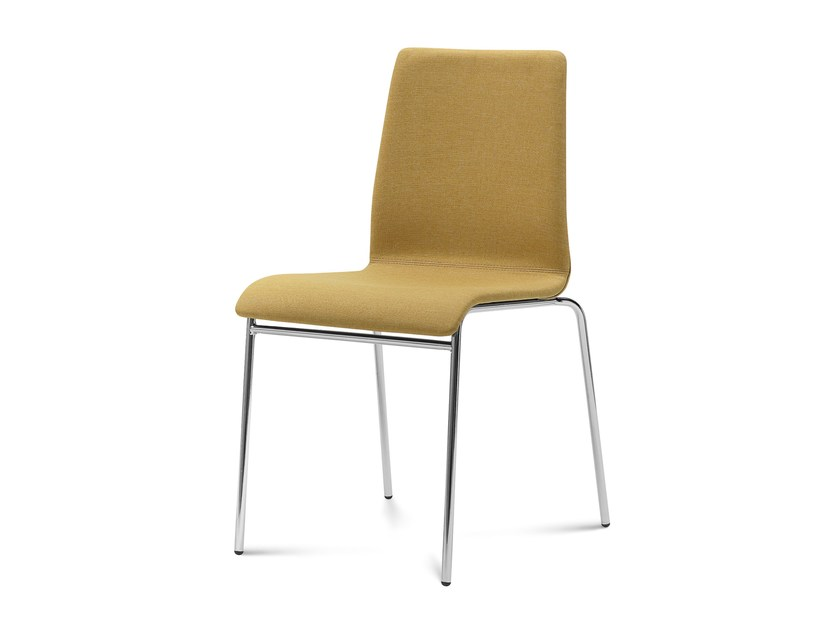 Upholstered steel chair JUDE by DOMITALIA
