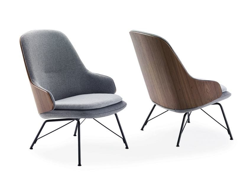 Upholstered easy chair with armrests JUDY by Zanotta