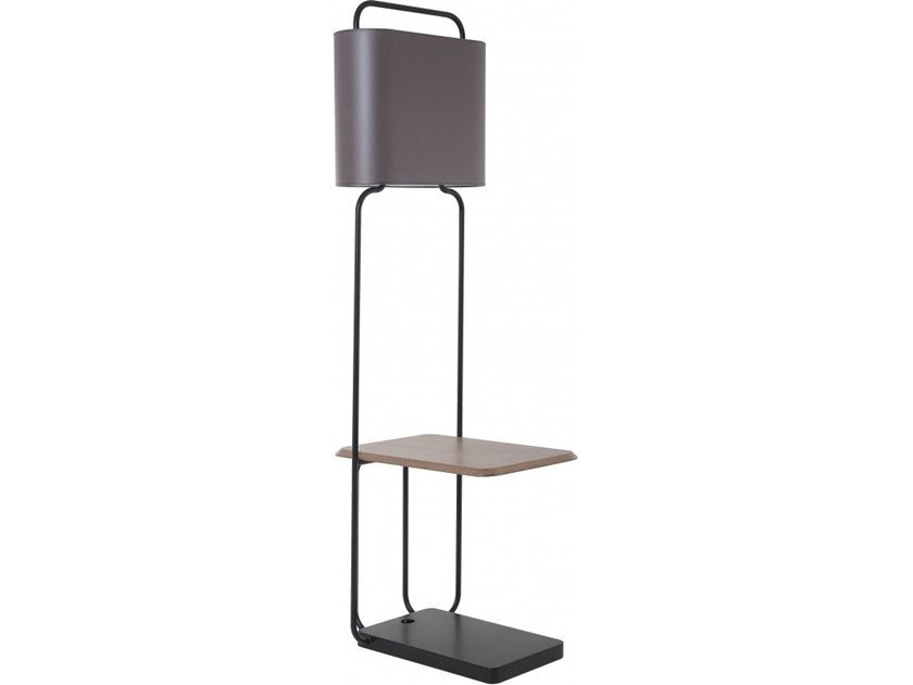 Metal floor lamp with shelf JULES by Flam & Luce