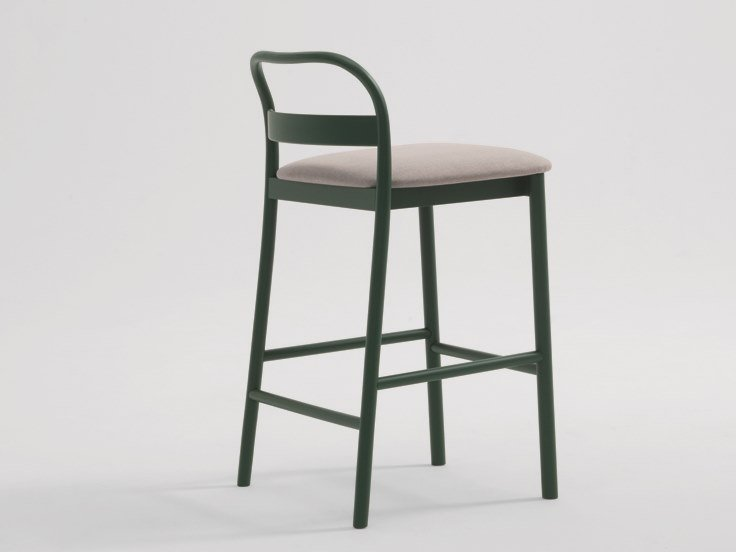 High fabric stool with integrated cushion JULES | Stool by SF Collection