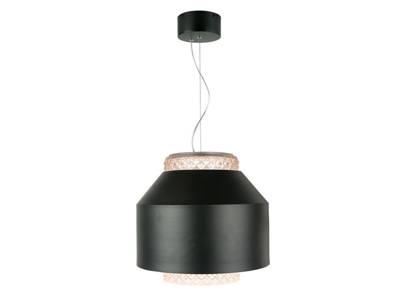 LED glass and steel pendant lamp with dimmer JULIA by bs.living