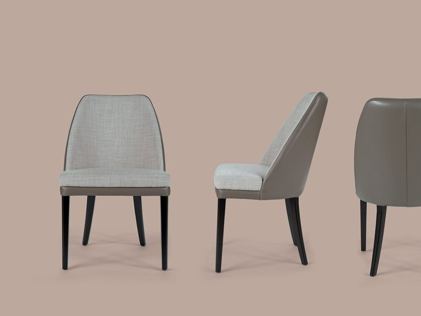 Upholstered fabric chair JULIE | Fabric chair by Borzalino
