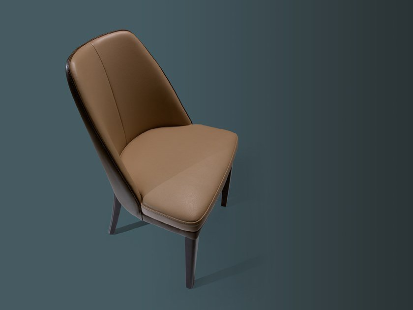 Upholstered leather chair JULIE | Leather chair by Borzalino