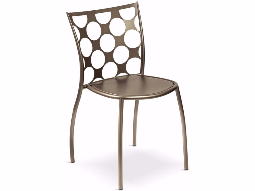 Stackable metal chair JULIE CERCHI by Cantori