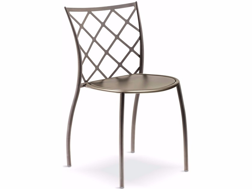 Stackable metal chair JULIE ROMBI by Cantori