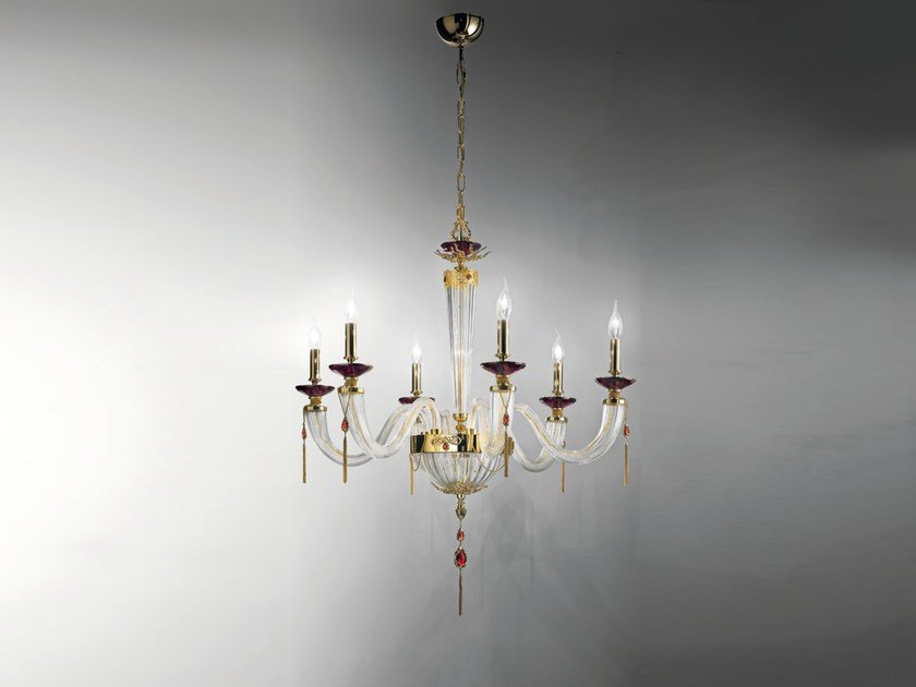 Chandelier with Swarovski® Crystals JULIENNE L6 by Euroluce Lampadari