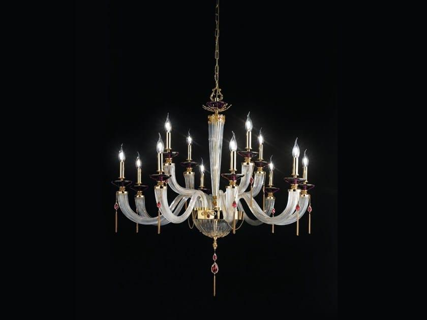 Chandelier with Swarovski® Crystals JULIENNE L8+4 by Euroluce Lampadari