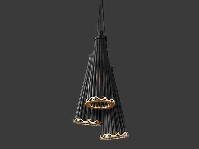 Crystal pendant lamp JULIENNE S3 by Euroluce Lampadari