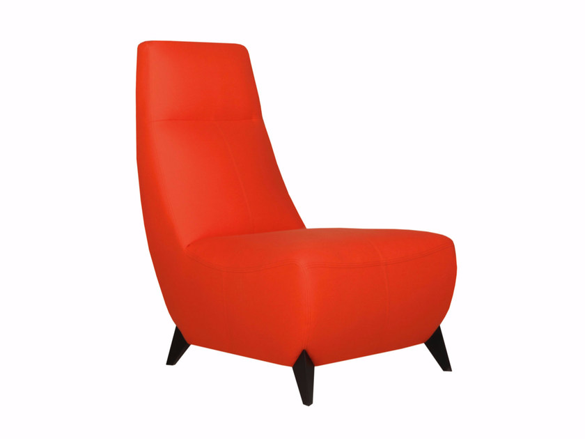 Upholstered fabric armchair with headrest JULIUS   Fabric armchair by SITS