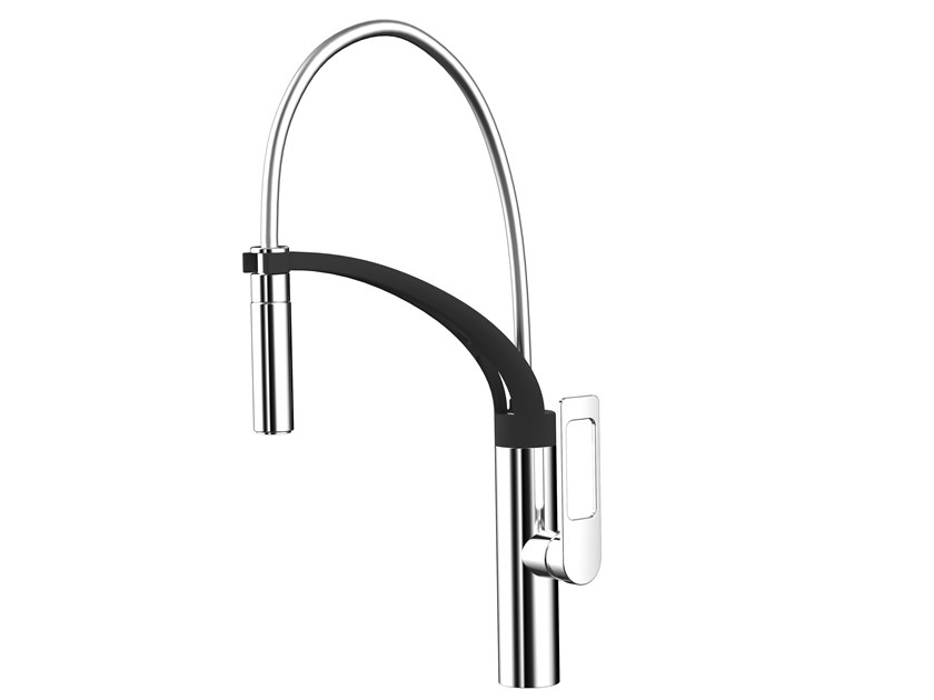Kitchen mixer tap with pull out spray JUN C168   Kitchen mixer tap by Awa Faucet