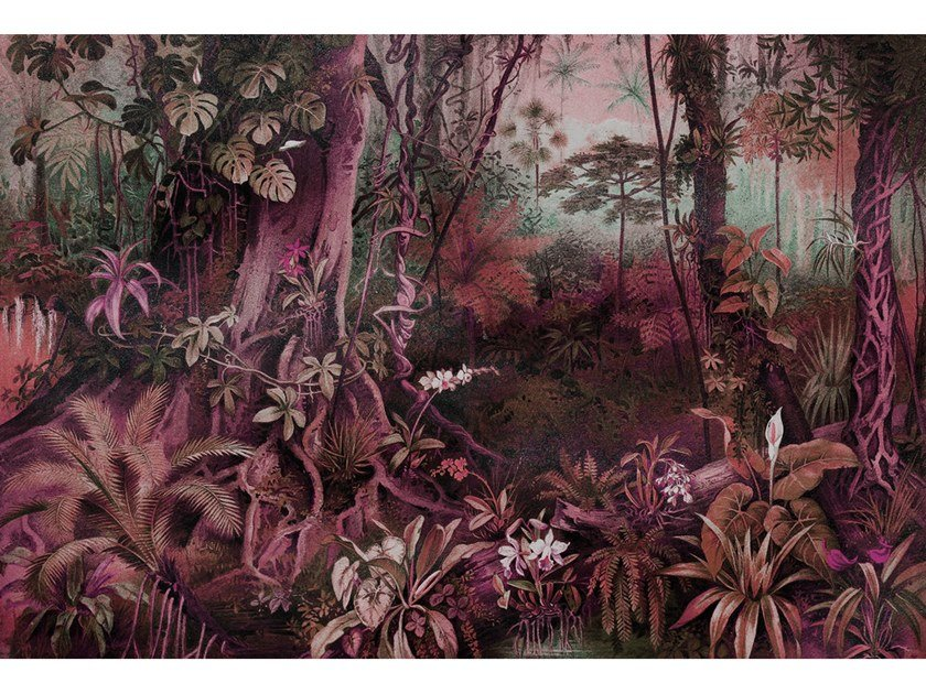 Digital printing trompe l'oeil wallpaper JUNGLE by Architects Paper