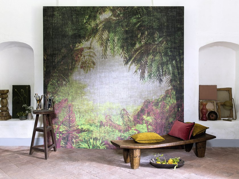 Washable Panoramic Vinyl Wallpaper Jungle Fever By élitis