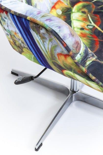 Braccioli Poltrona In Con design Tessuto Fever Girevole Jungle Kare SGqUVpMLz