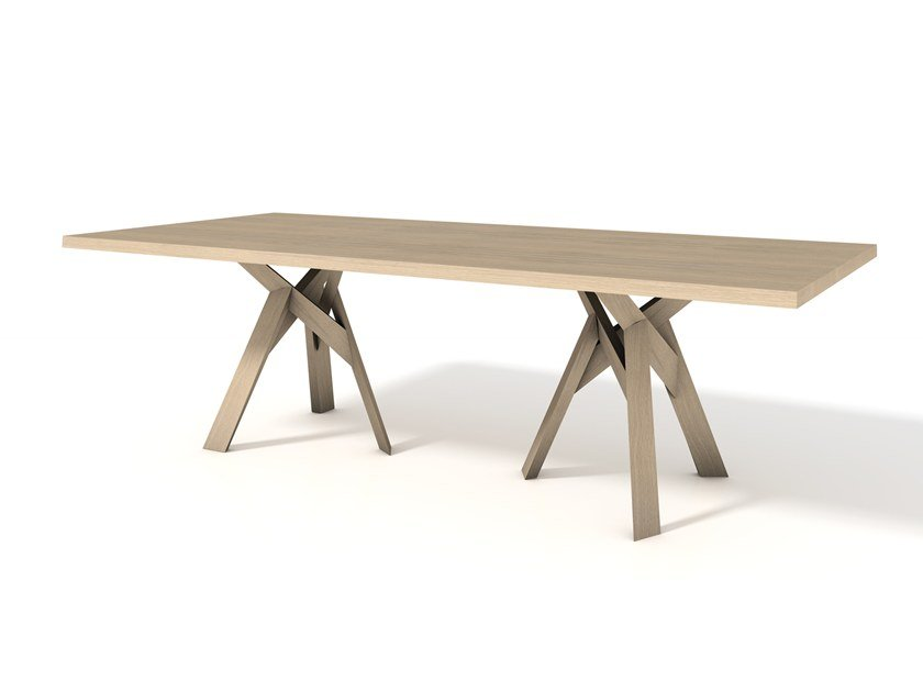 Rectangular oak table JUNGLE | Oak table by Calligaris