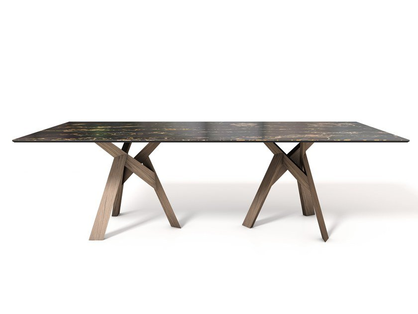Rectangular ceramic table JUNGLE | Rectangular table by Calligaris