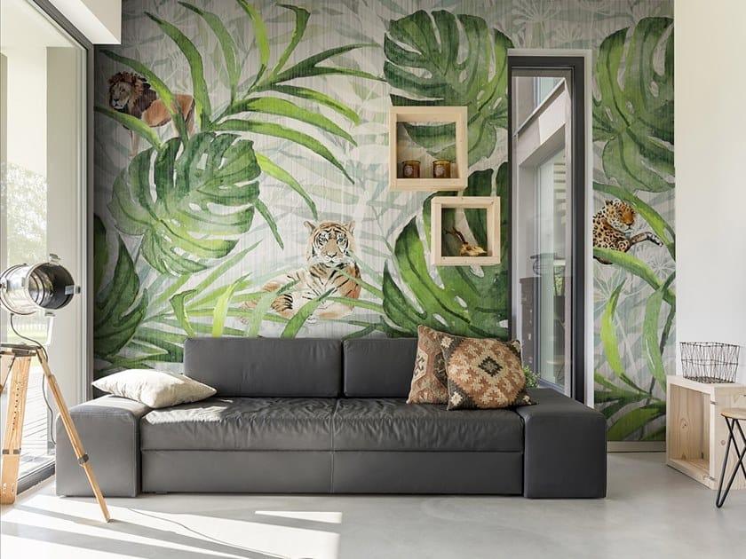 Papier Peint Lavable Panoramique En Fibre De Verre Jungle Tropicalia