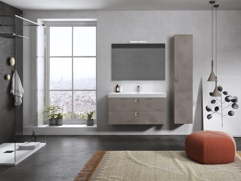 Mobile lavabo sospeso con specchio JUPITER 04 by BMT