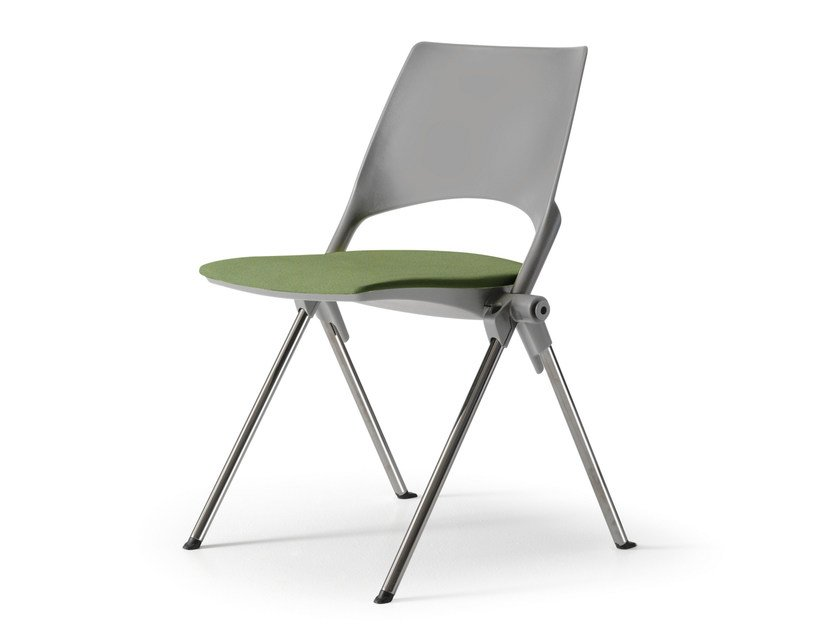 Lacquered folding reception chair JUST by Quinti Sedute