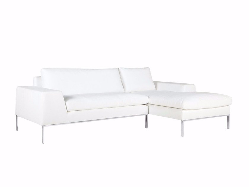 2 seater fabric sofa with chaise longue JUSTUS | Sofa with chaise longue by SITS