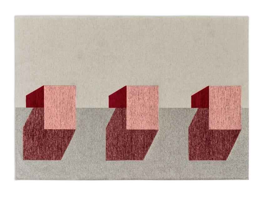 Rectangular chenille rug JUT by Calligaris